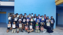 Visual Arts Students Send Portraits to Puerto Rican Children!