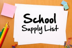 Elementary Supply Lists